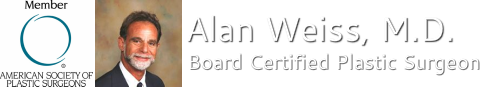 Alan Weiss, M.D.  Plastic and Cosmetic Surgeon Board Certified